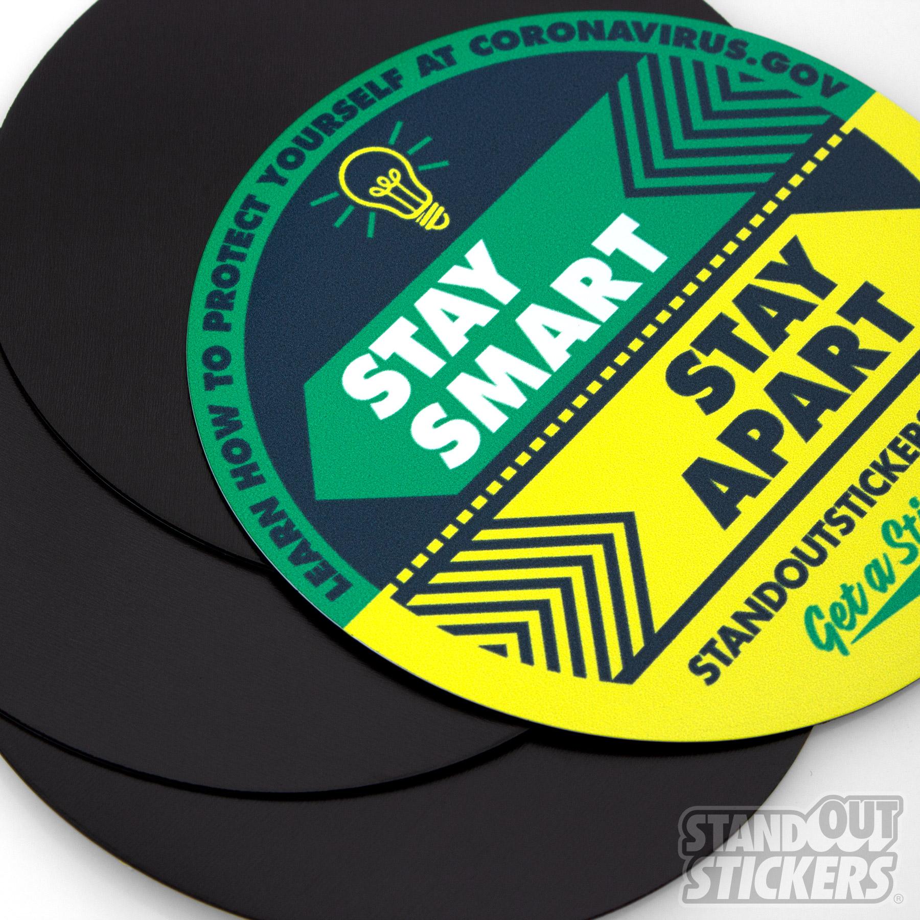 Coronavirus Magnets - Stay Smart, Stay Apart