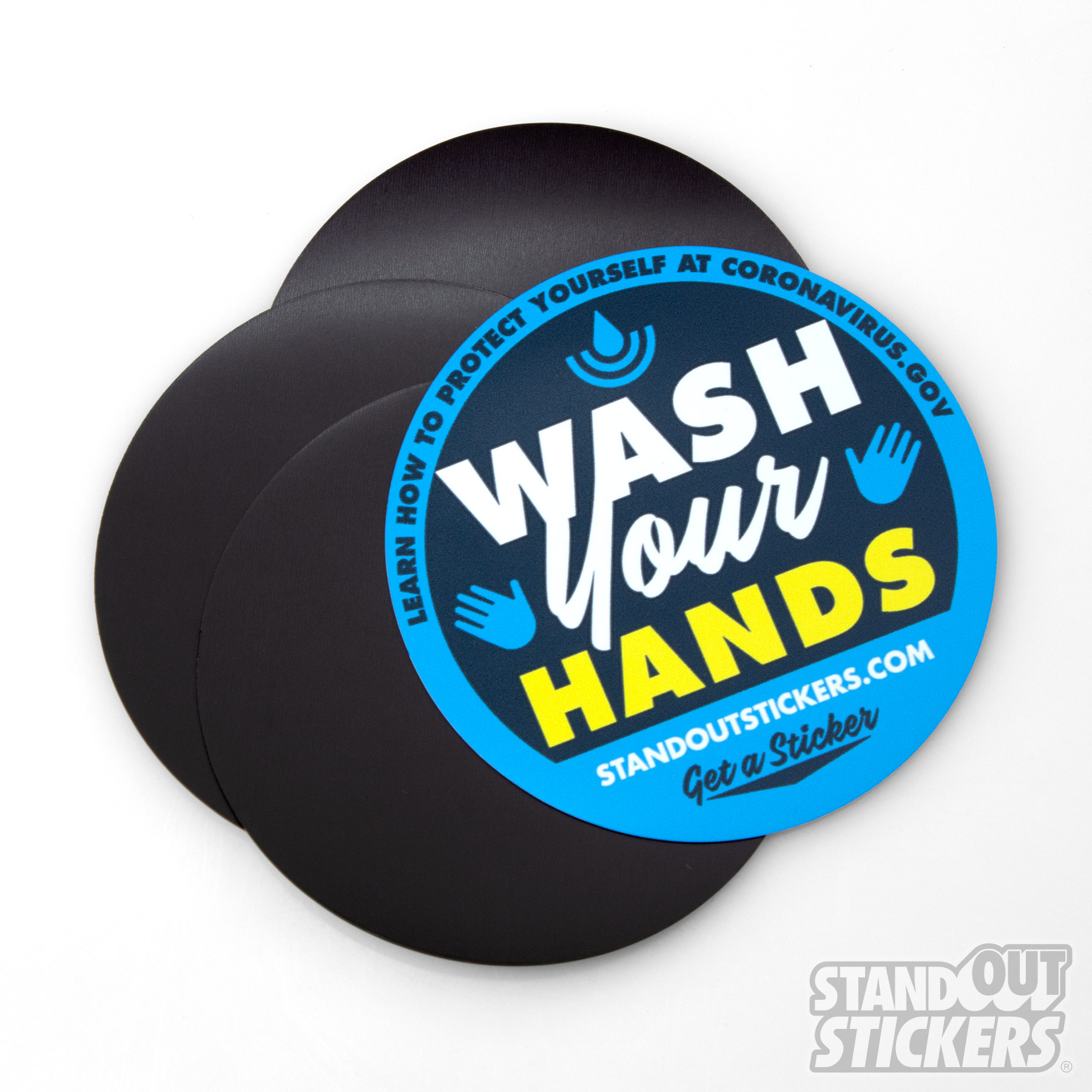 Wash Your Hands Circle Magnets