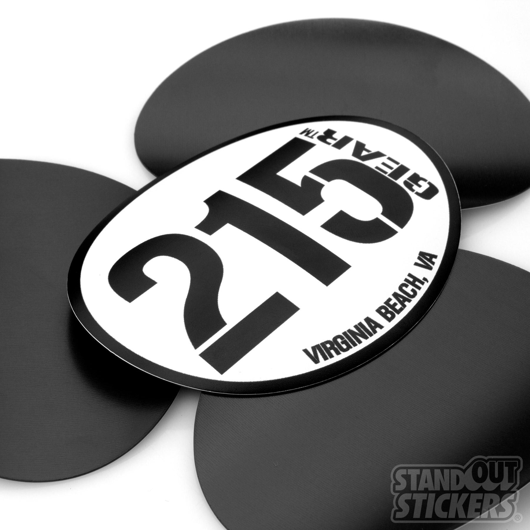 215 Gear Oval Fridge Magnets