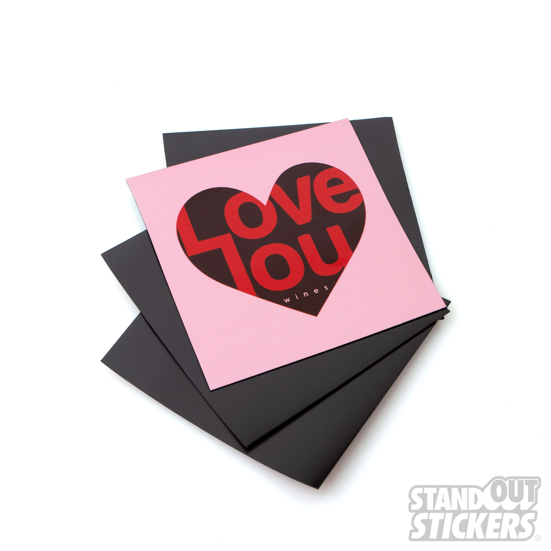 Square Magnets for I Love You Wines